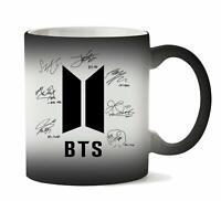 BTS Bangtan Boys Signatures Autograph themed Color Changing Coffee Cup-Magic mug