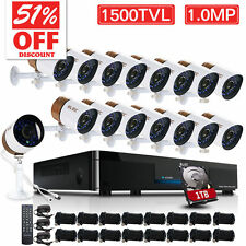 ELEC 1TB 16CH 960H HDMI CCTV DVR Home Outdoor Security Camera System Kit 1500TVL