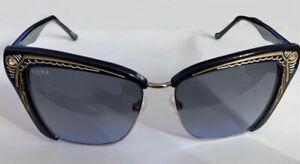 Seiko carved TURA High Grade Sunglasses 54-15-145 B:42 Ocean Smoke Blue Lens