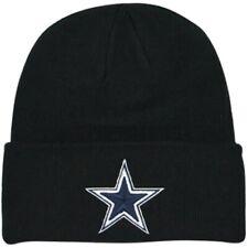 NFL Dallas Cowboys Classic Team Logo Black Cuffed Knit Beanie Hat Cap
