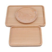 Wood Wooden Tray Dessert Fruit Bread Dishes Trays Dinner Plates Dinnerware S