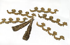 Vintage Brass Furniture Trim border and feet set lot