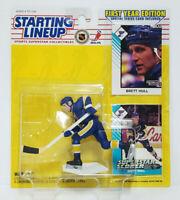 BRETT HULL - St Louis Blues Starting Lineup SLU NHL 1993 Rookie Figure & 2 Cards