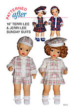 "Plaid Sunday Suits For Jerri & Terri - Clothing Pattern For 16"" Terri Lee Doll"