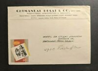 1946 Illustrated Advertising Cover Redline Lanterns Bombay India to Cleveland OH