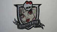 MONSTER HIGH ROCHELLE GOYLE  FACE BADGE EMBROIDERED PATCH BADGE SEW OR IRON ON