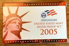 2005 S US Mint Silver Proof Set w/COA Complete 11 Coins Original Mint Packaging