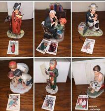 Vintage Large Normal Rockwell Figurines Lot of 6 Dave Grossman 73 74 75 76 79
