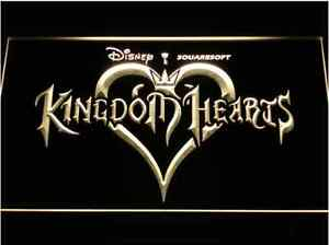 New Kingdom Hearts video game hanging LED Neon Light Sign Bar Man Cave 7 colors