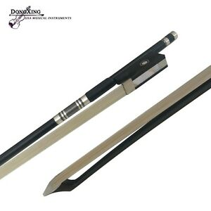 1/16 Carbon Fiber Violin Bow Natural Horsehair Ebony Frog Round Stick from USA