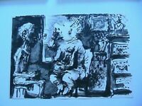 Picasso Toros Y Toreros 1961 B&W Lithograph Print Enigmatic Limited Edition