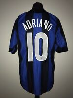 Inter Milan 2005-06 Home Vintage Football Shirt #10 Adriano - Good Condition