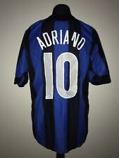 Inter Milan 2005-06 Home Vintage Football Shirt #10 Adriano - Good Condition