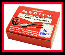 40 MEDICO PIPE FILTERS (4 x 10 BOXES)  ORIGINAL AND GENUINE 6mm FILTERS