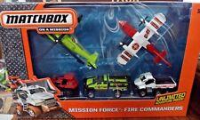 MATCHBOX MISSION FORCE FIRE COMMANDERS 5 PACK VEHICLES CJL58  *NEW*
