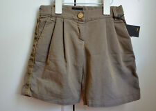New Authentic FENDI Kids Boy's Shorts (Size 6 Years) Khaki With Pockets Zucca