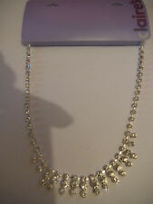 Collar De Diamante Nuevo con Etiquetas Rrp £ 10 Regalo