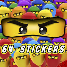 64 x Lego Ninjago Eyes Stickers for Balloons, Bags, Plates, Party Decorations