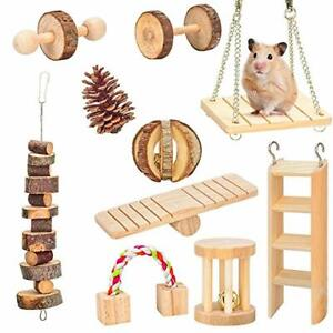 AsiFancy Hamster Chew Toys Guinea Pig Rat Gerbil Chew Toys Accessories Natura...
