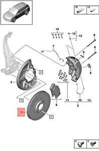 Genuine PORSCHE Cayenne 9YA Brake Disc Right 9Y0615302L