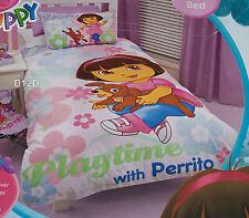 Dora The Explorer Puppy Single Bed Quilt Cover Set New *Sale*