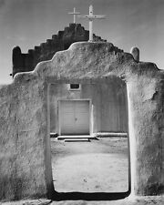 FRONT VIEW OF CHURCH TAOS PUEBLO NEW MEXICO 8X10 PHOTO ANSEL ADAMS