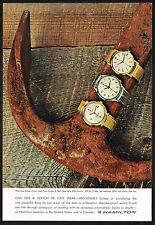 1960's Vintage Hamilton T-406/Skip Jack & Sea Scape Watch Paper Photo Print AD