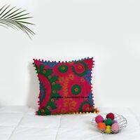 Home Decorative Oriental Suzani Floral Cotton Cushion Cover/Pillow Case Indian