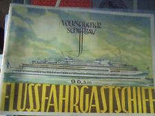 24522 FLUSSFAHRGASTSCHIFFE 96,3 m VEB 1954 Prospekt 4 Tafeln Schiffbau