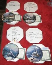 SET OF 4 GATHER AT OUR HOME THOMAS KINKADE PORCELAIN PLATE COLLECTION WITH COA