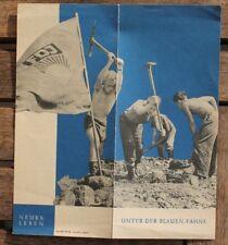 29524 FDJ Literatur Werbung Propaganda Verlag Neues Leben 1960 Kinder bei Aufbau