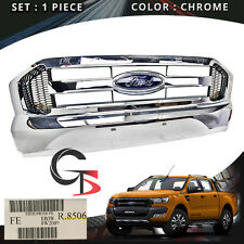 Front Grill Grille Chrome Genuine Trim For Ford Ranger T6 Pickup 2015 - 2017