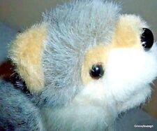 Defenders of Wildlife Wolf Husky Dog Plush Animal Toy Stuffed Gray Tan