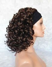 Short Super Curly Dark Brown Synthetic HEADBAND Wig - #85