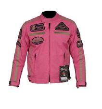 Bouson Textile Moto Enfant, Veste Moto, CE, Rose, Noir, Veste Avec Protection