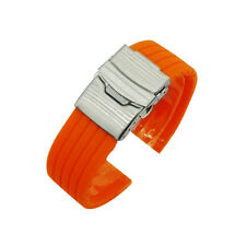 Replacement Unisex  Silicone Sport Bracelet Strap Wrist Watch Band Strap 18-24mm