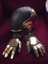 Daft Punk (Tron) Helmet Mirror Chromed (black visor)pre cut card Cosplay or prop