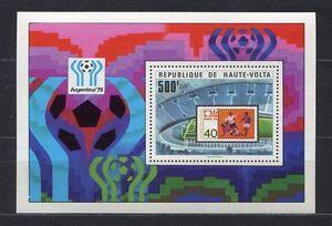 S5244) Haute-Volta 1977 MNH World Cup Football - Cup Del Mondo Football S/S
