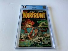 WARFRONT 5 CGC 5.0 CLASSIC GI COMMIE FIGHT COVER PRE CODE WAR HARVEY COMICS 1952