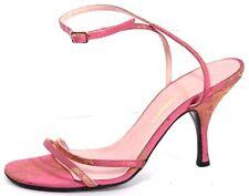 Dolce & Gabbana Heels Pumps Shoes Womens 35 5 Pink Gld Silk Floral Dress Sandals