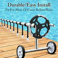 24Pcs Solar Cover Reel Attachment Kit Straps Blanket For In-Ground Swimming Pool