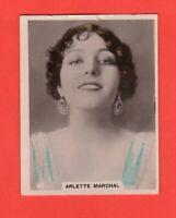 1920's 80. Arlette Marchal  BAT CINEMA STARS, SET 6A  Film Card Rare