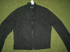 Men's $495. (M) POLO RALPH LAUREN Black Moto Jacket/ Coat