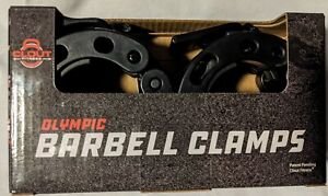 """Olympic Bar Barbell Clamps 2"""" Round Quick Release Locking Gym Equipment - 1 Pair"""