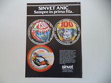 advertising Pubblicità 1982 SINVET ANIC