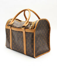 AUTH LOUIS VUITTON MONOGRAM SAC Chien 40 Dog Pet Carrier Bag Purse Travel