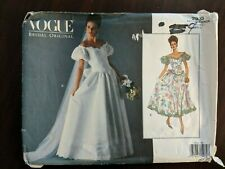 Vogue Bridal Original Pattern 2933 Lovely Wedding Gown & Petticoat Size 6-8-10