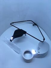 supporting glasses with magnifier with LED lamp + 40x 25mm loupe