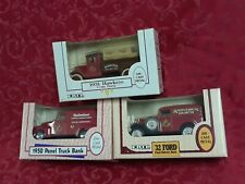3 rare beer delivery truck Ertl Bank gift deco diecast budweiser vtg model bank