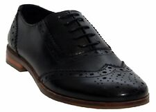 Cipriata Womens Black Leather Oxford Brogues Ladies Formal Dress Shoes Clearance UK 8